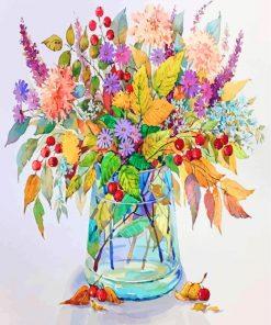 Flowering Plants Vase Paint by numbers