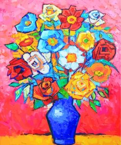 Flowers Bouquet Art Paint by numbers
