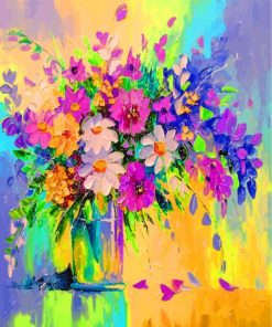 Flowers In A Vase Paint by numbers