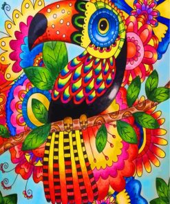 Folk Toucan Art Paint by numbers