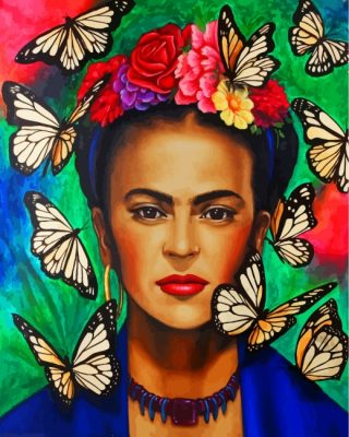 Frida And Butterflies Paint by numbers
