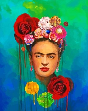Frida And Flowers Art Paint by numbers