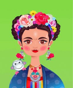 Frida Kahlo And Monkey Paint by numbers