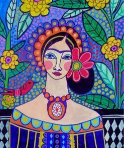 Frida Kahlo Folk Art Paint by numbers