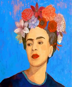 Frida Kahlo And Flowers Paint by numbers