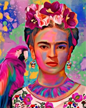 Frida Kahlo And Parrot Paint by numbers