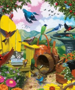 Garden Birds Paint by numbers