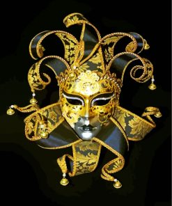 Golden Venetian Mask Paint by numbers