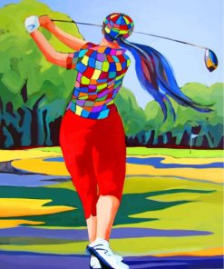 Golf Player Paint by numbers