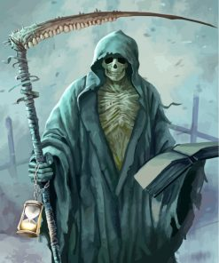 Grim Reaper With Hourglass Paint by numbers