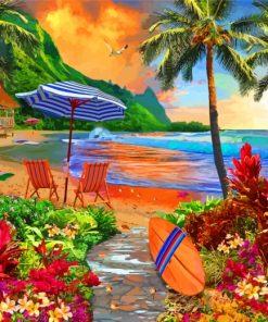 Hawaiian Island Paint by numbers