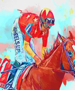 Horse Race Art Paint by numbers