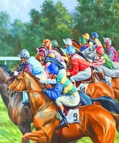 Horses Race Paint by numbers