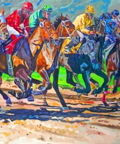 Horses Racing Paint by numbers