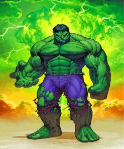 Hulk Hero Paint by numbers