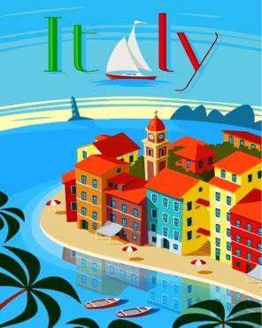 Italy Poster Paint by numbers