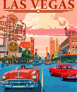 Las Vegas Poster Paint by numbers