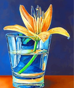Lily Plants In Glass Paint by numbers