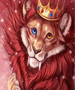 Lion King With Crown Paint by numbers