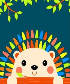 Little Cute Hedgehog Paint by numbers