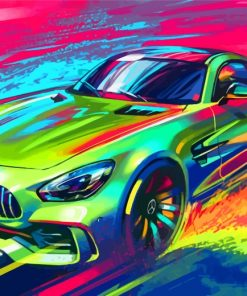 Mercedes Car Art Paint by numbers