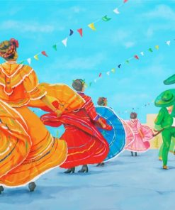 Mexican Folk Dance Paint by numbers