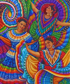 Mexican Folk Dancers Paint by numbers