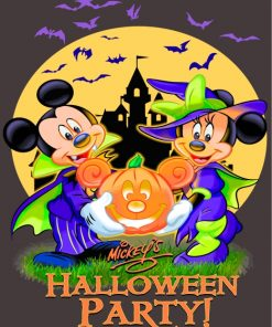 Mickey Halloween Party Paint by numbers
