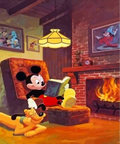 Mickey Mouse And Pluto Paint by numbers
