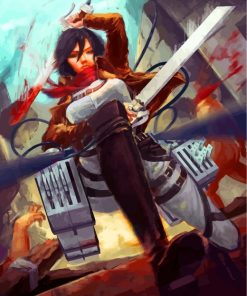 Mikasa Ackerman Attack On Titan Paint by numbers