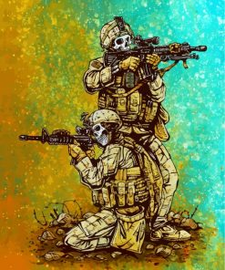 Military Skulls Paint by numbers