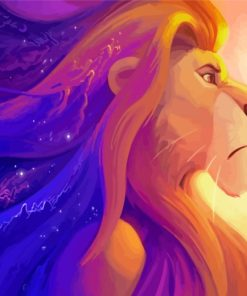 Mufasa Lion King Paint by numbers
