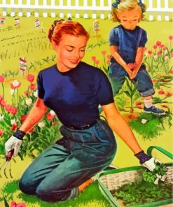 Planting With Mother Paint by numbers