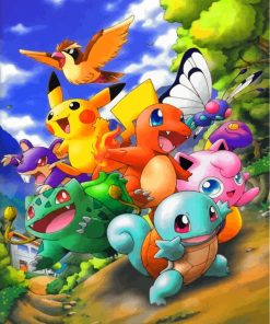 Pokemon Characters Paint by numbers
