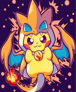 Pokemon Pikachu Charizard Paint by numbers