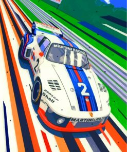 Porsche Martini Racing Car Paint by numbers