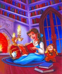 Disney Belle Princess Reading Book Paint by numbers