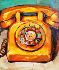 Retro Phone Paint by numbers