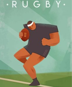 Rugby player illustration paint by numbers
