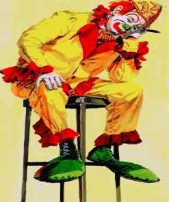 Sad Circus Clown Paint by numbers