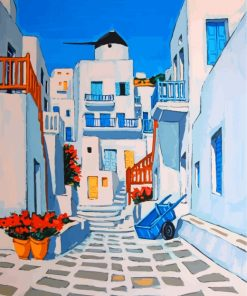 Santorini Greece Paint by numbers