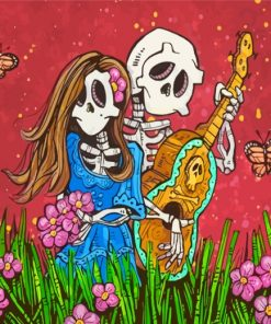 Skulls Couple Paint by numbers