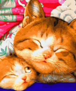 Sleepy Cute Cats Paint by numbers