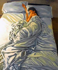 Sleepy Woman Paint by numbers