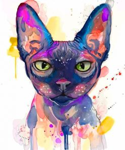 Sphinx Cat Art Paint by numbers