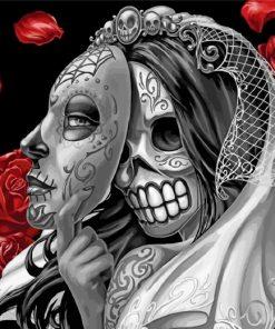 Sugar Skull Bride Paint by numbers