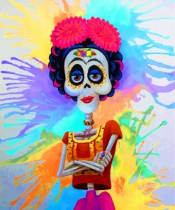 Sugar Skull Frida Paint by numbers