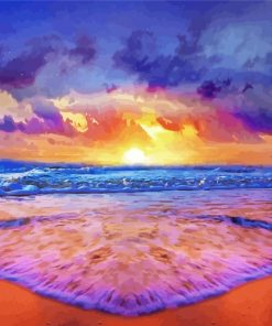 Sunset Seascape Paint by numbers