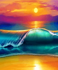 Sunset Waves Paint by numbers