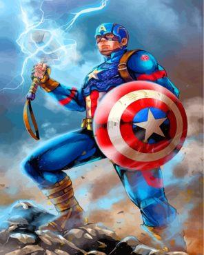 Superhero Captain America Paint by numbers